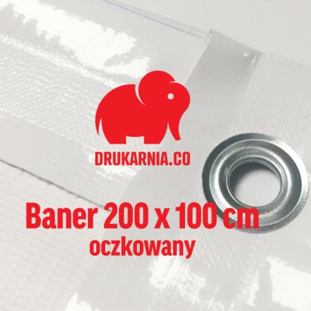 Baner oczkowany 200 x 100 cm